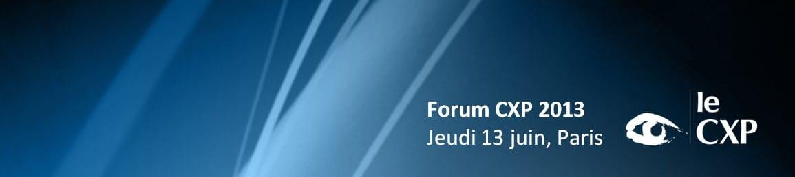 Bannière Forum CXP 2013