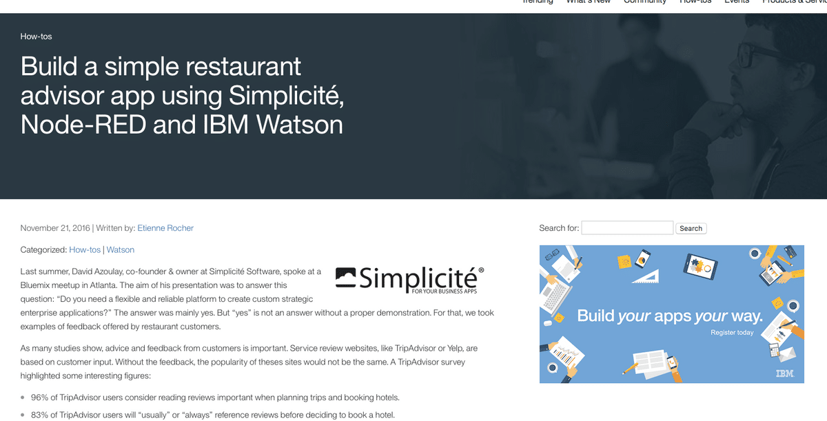 Article Bluemix